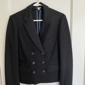 Black boiled wool blazer